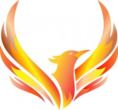 stock logo phoenix fire flying