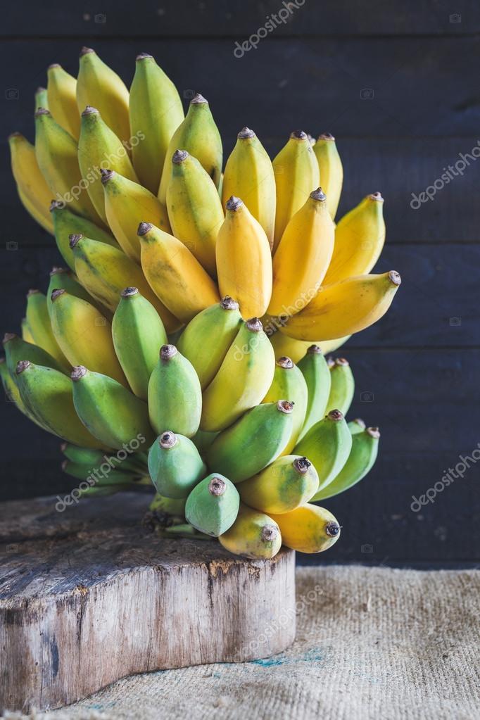 Ripe yellow bananas