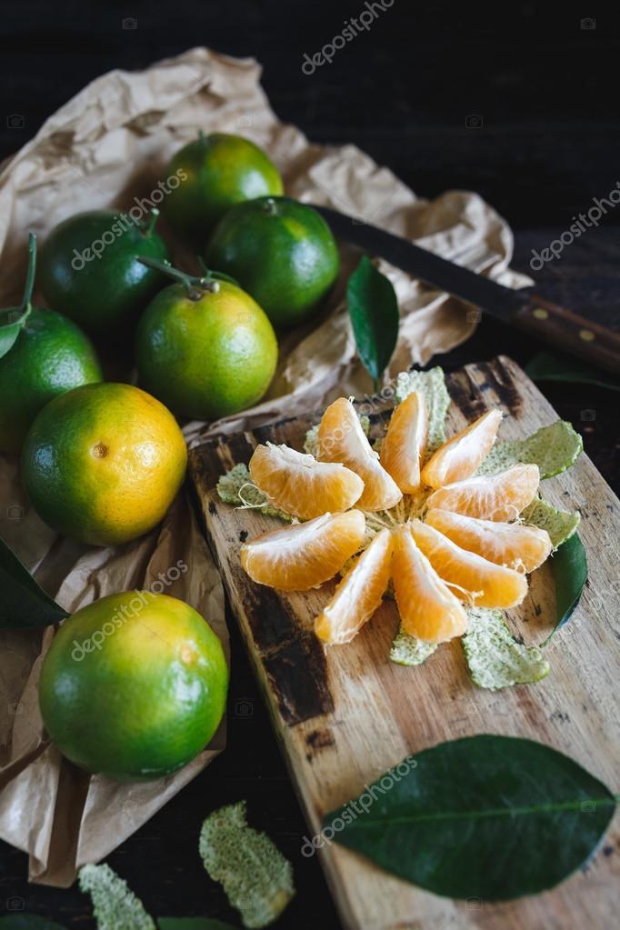 Green Vietnamese Mandarins