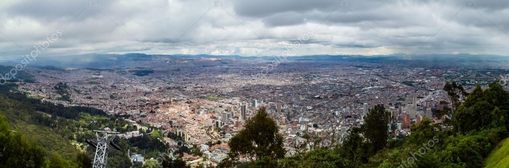 Panorama Bogota, view from Monserrate
