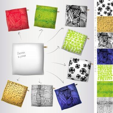 Set of 3d throw pillow models