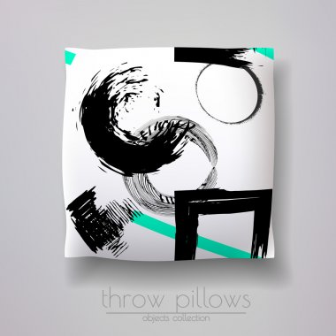 pillow model with geometric figures