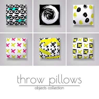 Realistic 3d throw pillow models