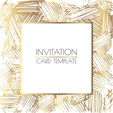 Gold and white wedding card