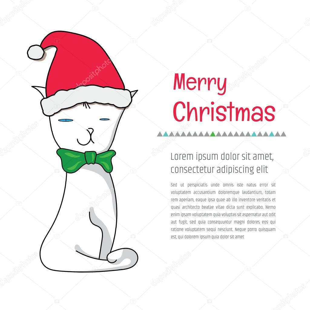Carte De Noel Yahoo.Carte De Voeux Drôle De Noël Joyeux Image Vectorielle