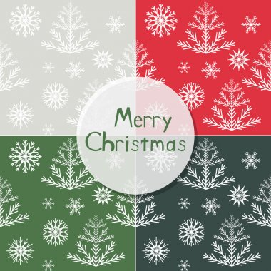 Christmas seamless patterns set