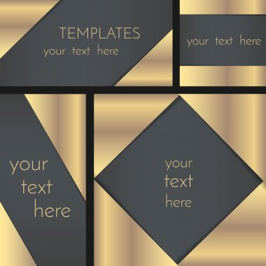 Rectangular greeting card template collection,