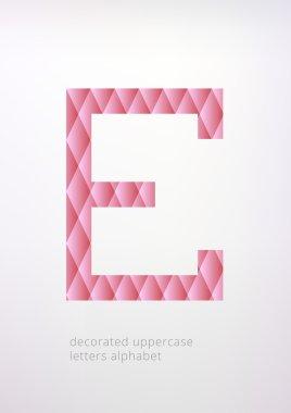 Uppercase E letter