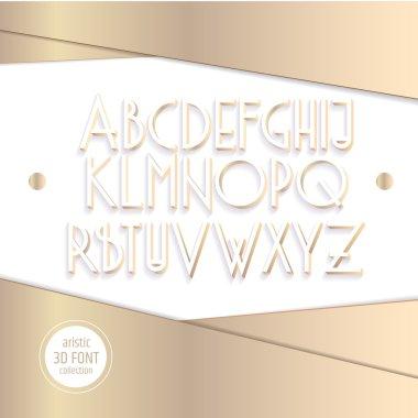 3d isometric letters alphabet.
