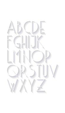 3d typography font.