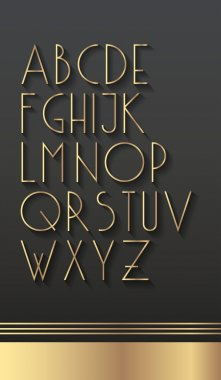3d typography font.