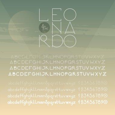 Geometric round font