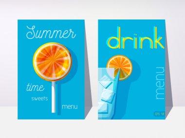 sweets menu and drink menu sample
