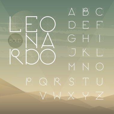 Light line uppercase font.