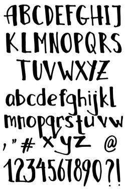3D Black alphabets