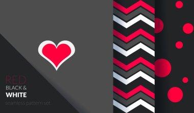 Valentines Day patterns set