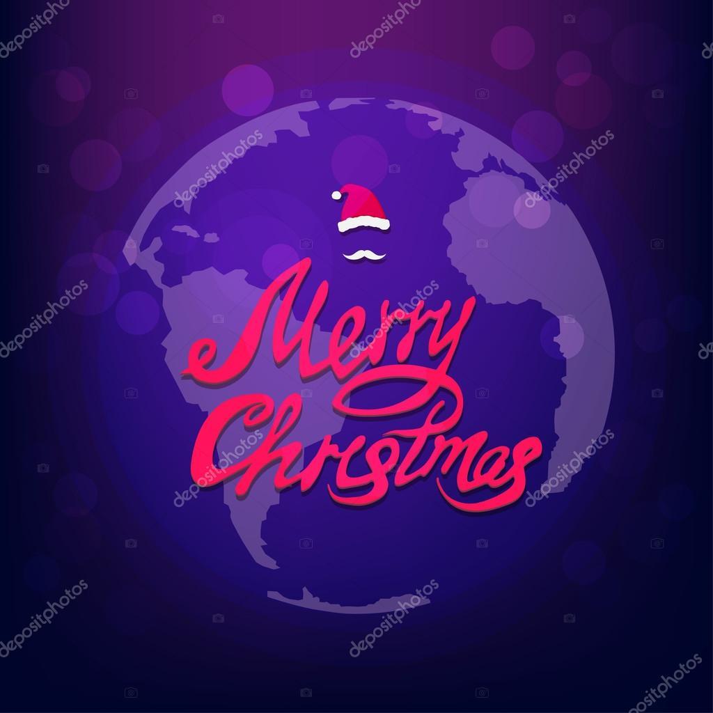 Carte De Noel Yahoo.Carte De Voeux Noël Planète Image Vectorielle Tekla