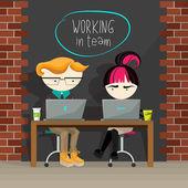 Fotografie Creative concept illustration of team