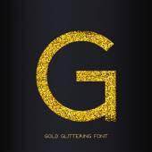 Photo Golden glitter letter G