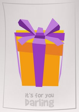 gift box with purple ribbon bow
