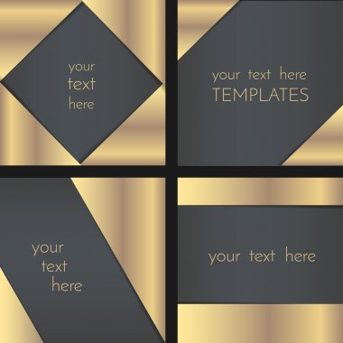Rectangular greeting card template collection