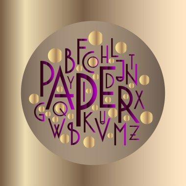 Art deco style letters alphabet.