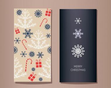 Christmas vector greeting cards set