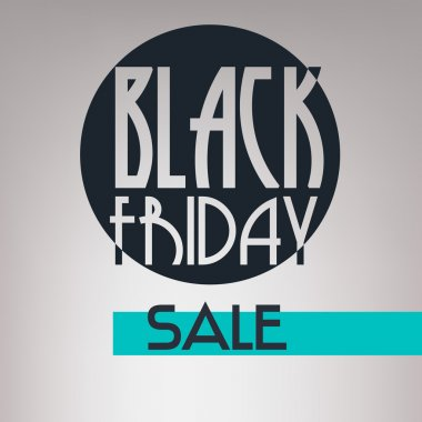 Black Friday sale inscription design