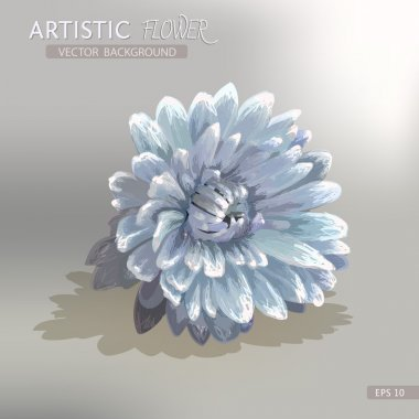 Artistic flower  background. Vector illustration. clip art vector