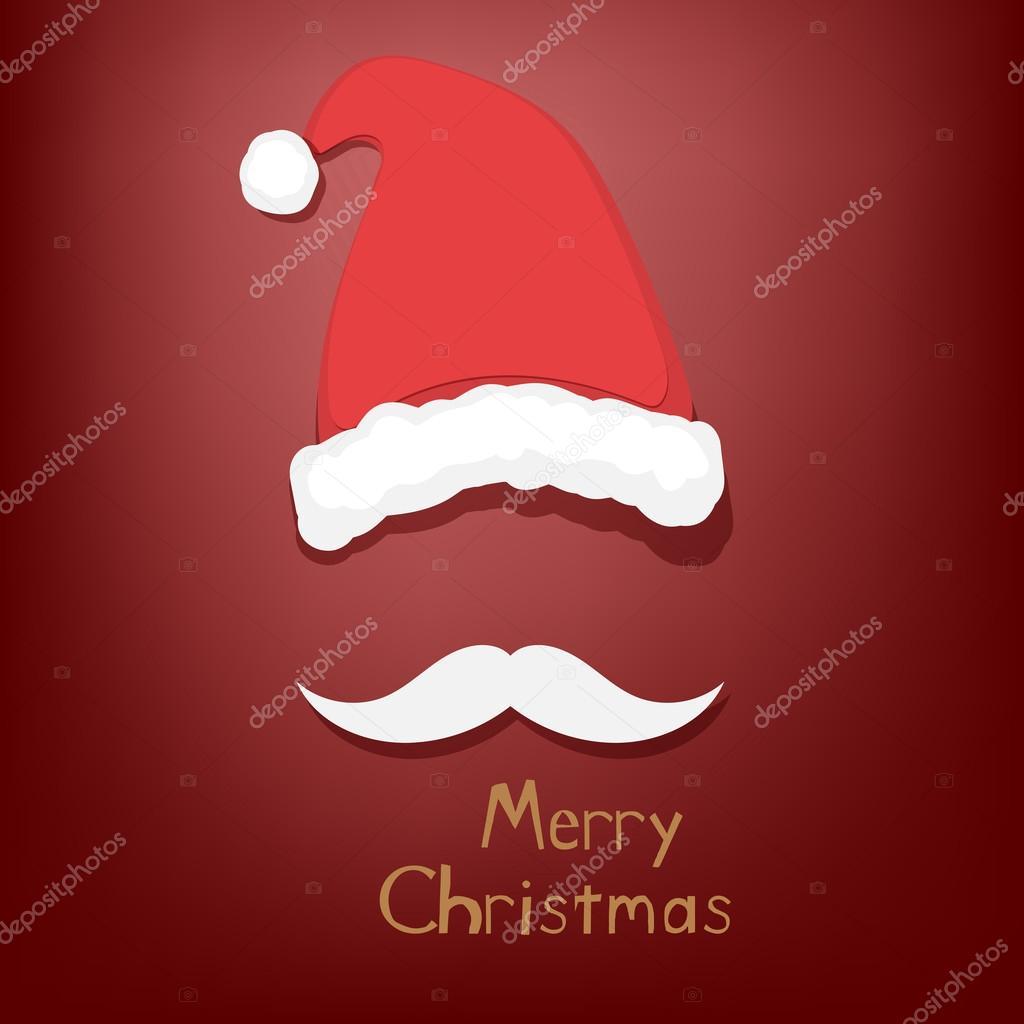 Auguri Di Buon Natale Yahoo.Baffi E Cappello Di Babbo Natale Vettoriali Stock C Tekla Pototska