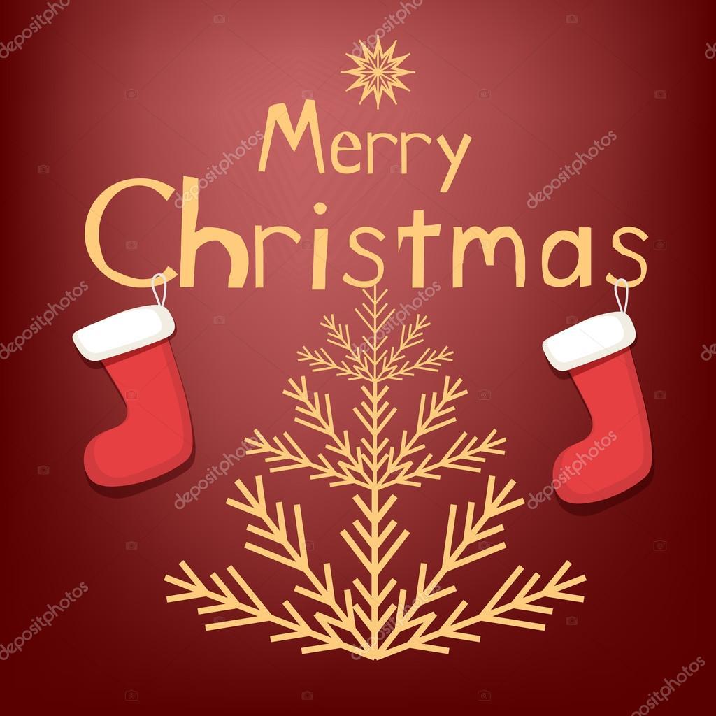Auguri Di Natale Yahoo.Biglietto Di Auguri Di Natale Vettoriali Stock C Tekla Pototska