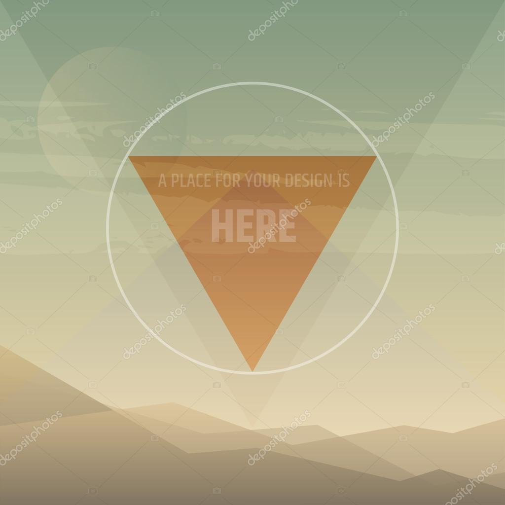 Flat cartoon desert sunset background
