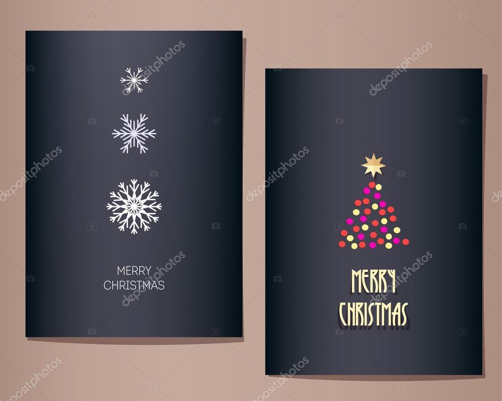 Auguri Di Natale Yahoo.Cartoline D Auguri Di Natale Impostate Vettoriali Stock C Tekla