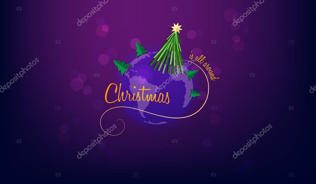 Carte De Noel Yahoo.Carte De Voeux De Noël Image Vectorielle Tekla Pototska