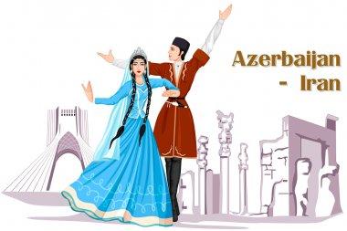 Irani Couple performing Azerbaijan dance of Iran