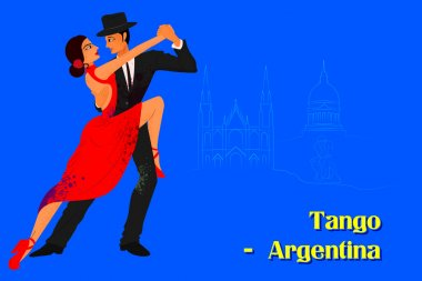 Couple performing Tango dance of Argentina
