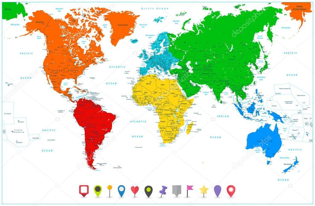 carte-du-monde-continents - Photo