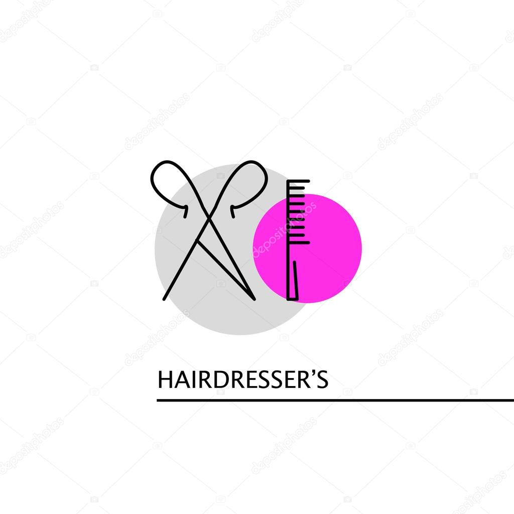 Hair salon chair isolated stock photos illustrations and vector art - Stock Illustration Vector Hairdresser S Logo Isolated On White Background Stock Vector 111443526