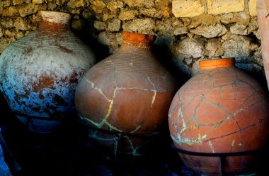 amphorae for storing products