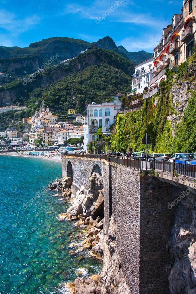 Amalfi old town landmark composition, Italy Positano,South Europe.