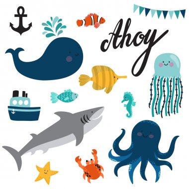 ahoy sea theme set