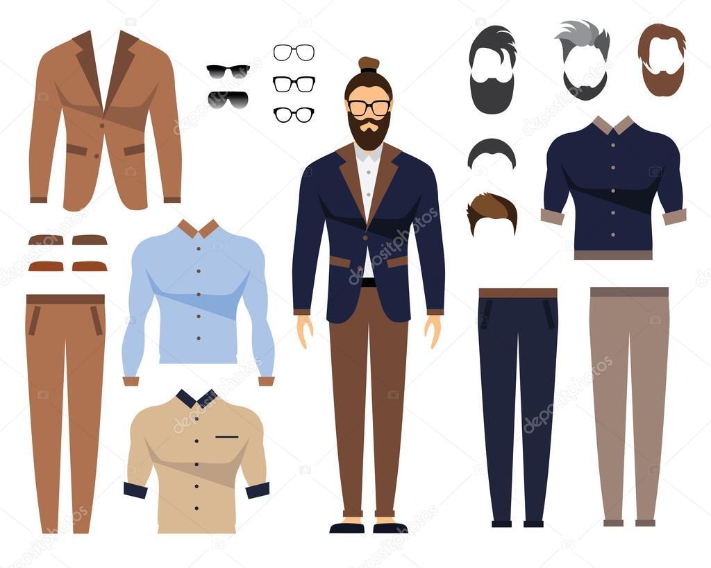 사무실 옷 세련 된 유니폼 디자인 남자가 있다입니다 안경