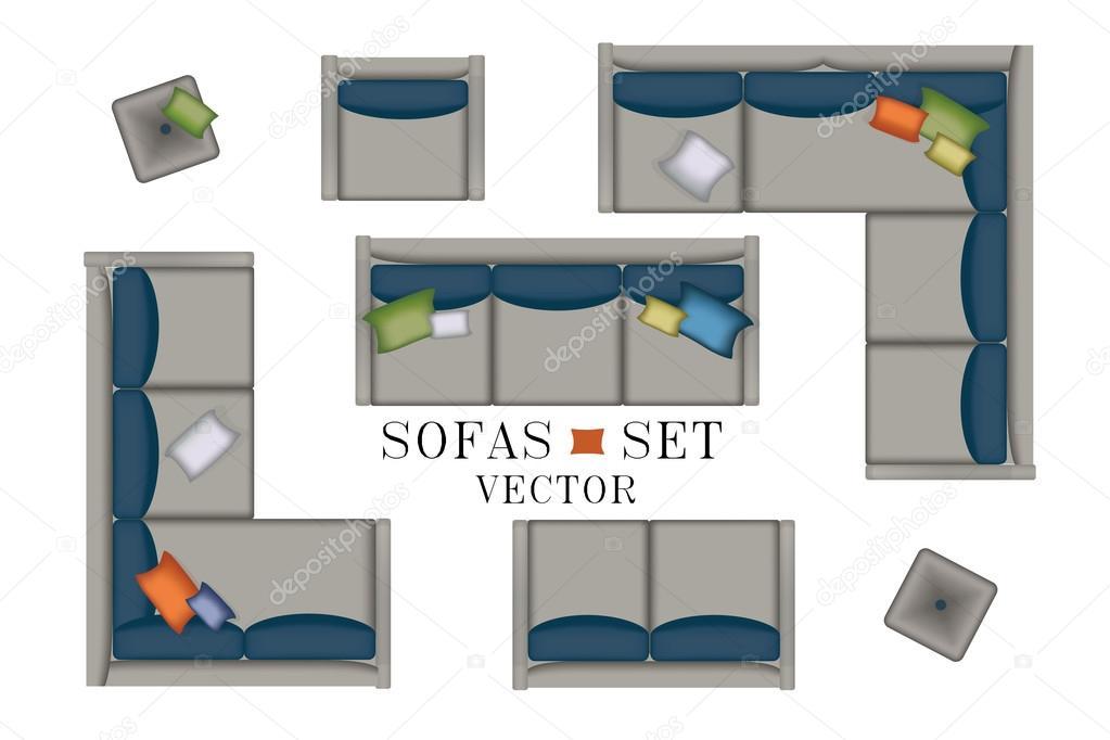 Sofas Armchair Set Furniture Pouf Carpet Tv Plants