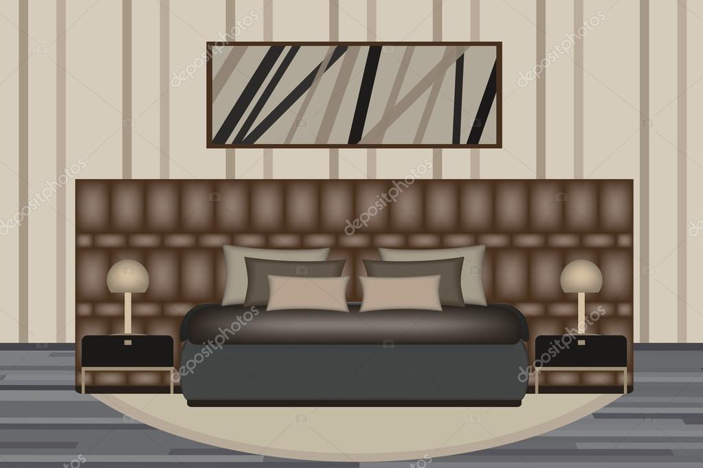 Illustrazione di camera da letto. Camera di elevazione con lusso ...