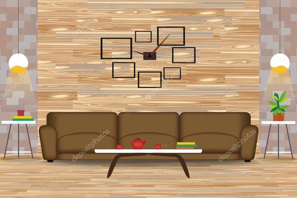 moderne décoration vecteur illustrationfa en face de la cloison