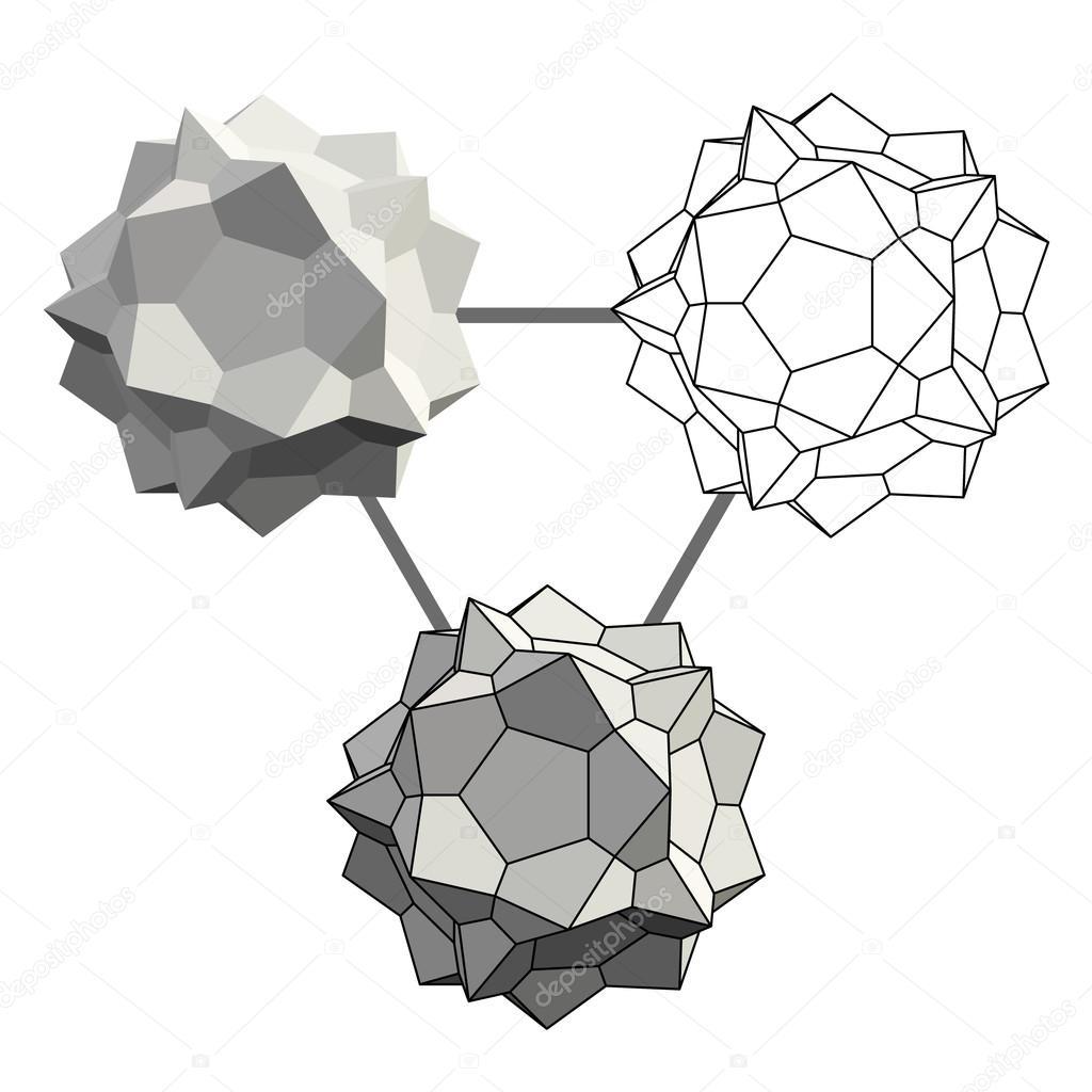 3d geometric shape — Stock Vector © VMK_architect #117101080