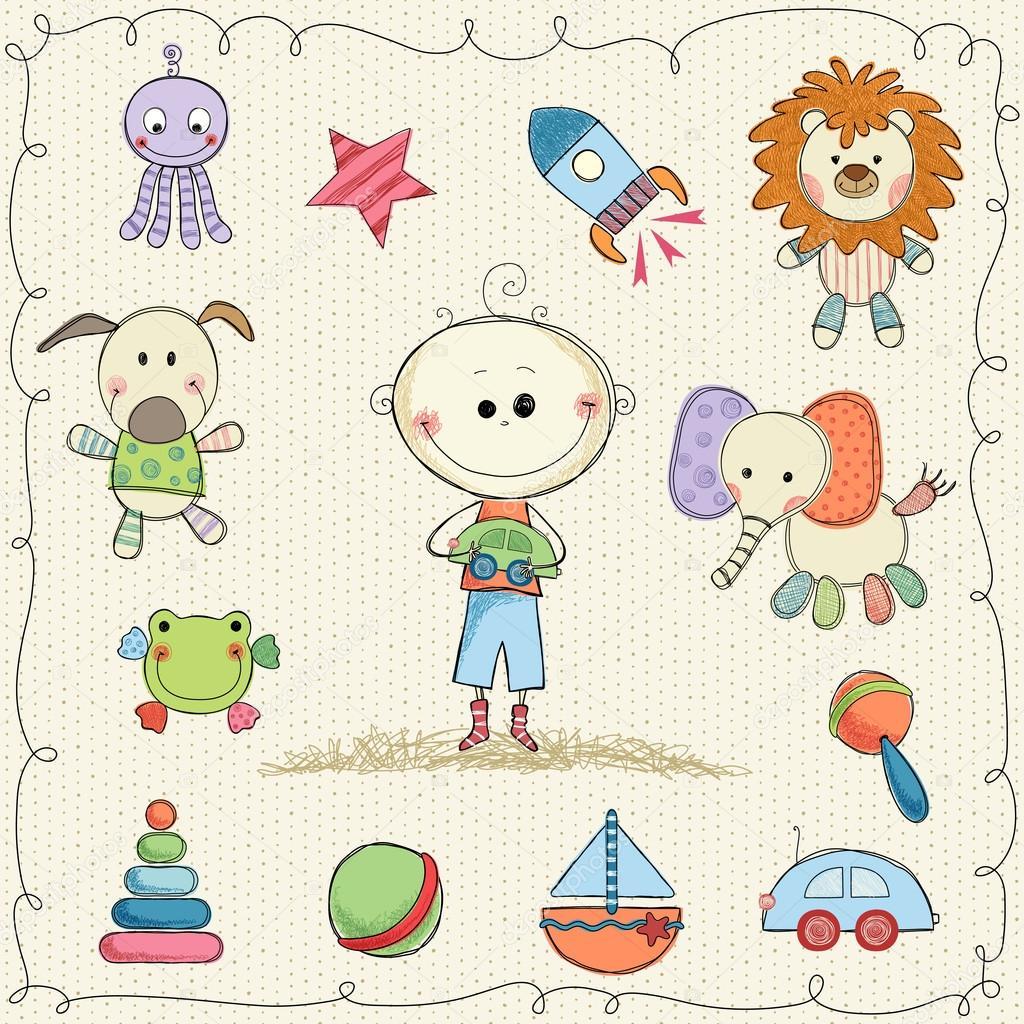 Sweet Baby Toys — Stock Vector © katya2katya #112426970