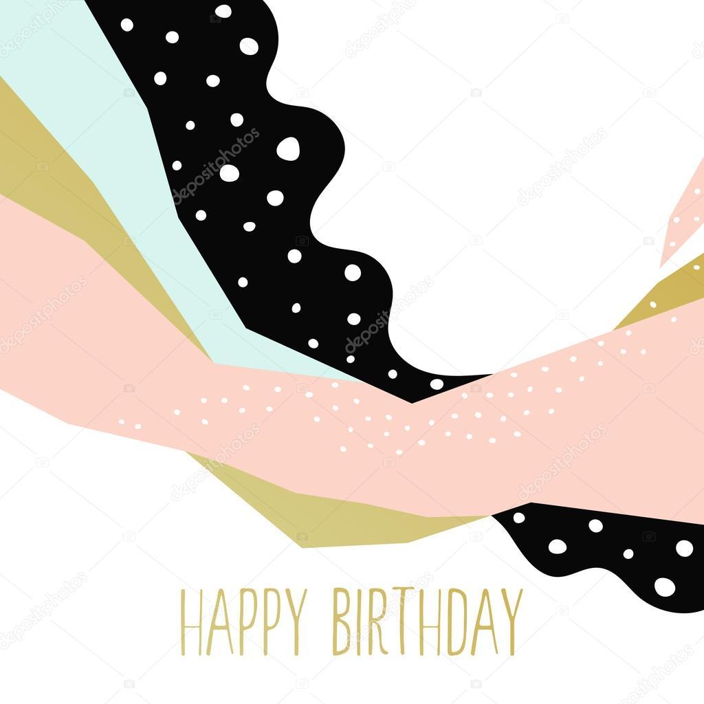 abstract happy birthday card stock vector katya2katya 115592492