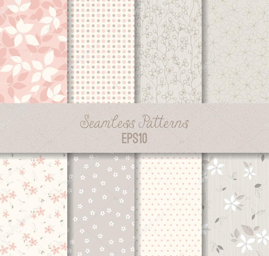 Patrones sin costura gris rosa — Vector de stock © katya2katya ...