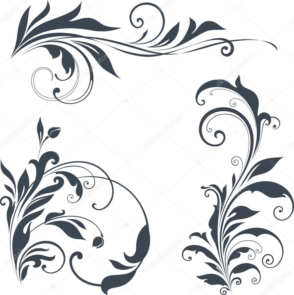 Ornate Motifs Design — Stock Vector © katya2katya #116472540